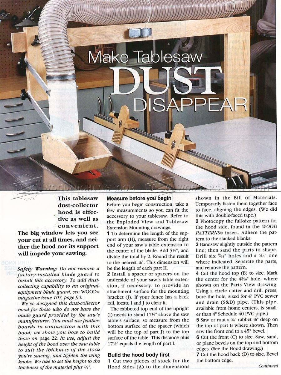 1744 Diy Table Saw Dust Collector Woodarchivist