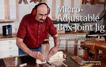 1746-Micro Adjustable Box Joint Jig