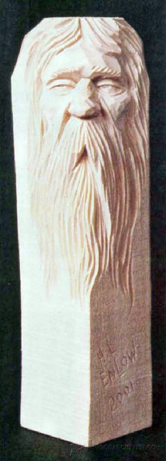 1753-Carving Wood Spirits