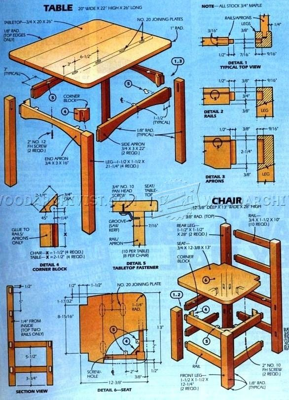 Swell Free Woodworking Plans For Childrens Furniture Interior Design Ideas Clesiryabchikinfo