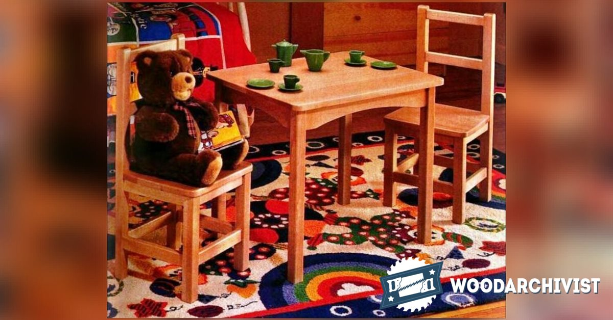 Kids Table and Chair Set Plan • WoodArchivist