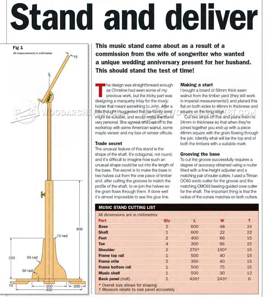 Woodworking Music Stand Plans Creative Gray Woodworking