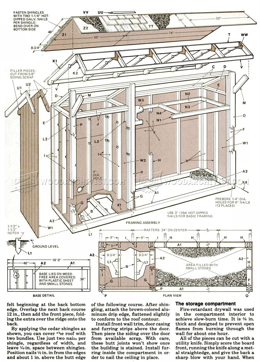 Woodshed Plans Woodarchivist