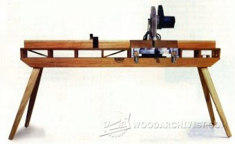 1774-Folding Miter Saw Table Plans