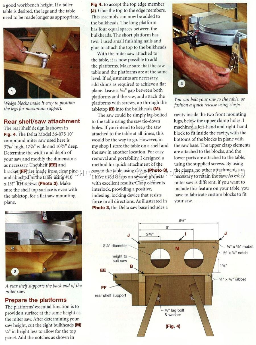 Folding Miter Saw Table Plans