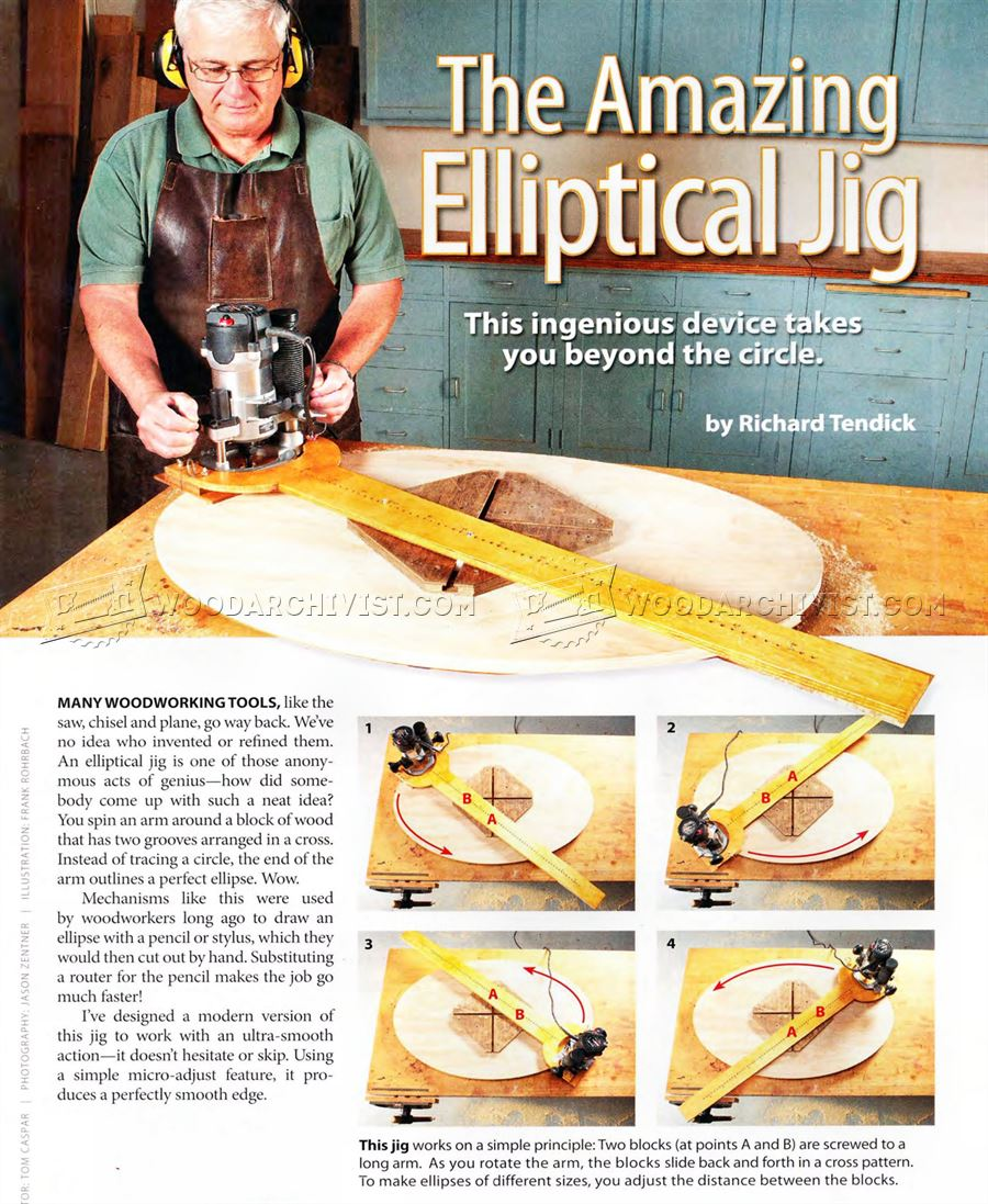 Elliptical Router Jig