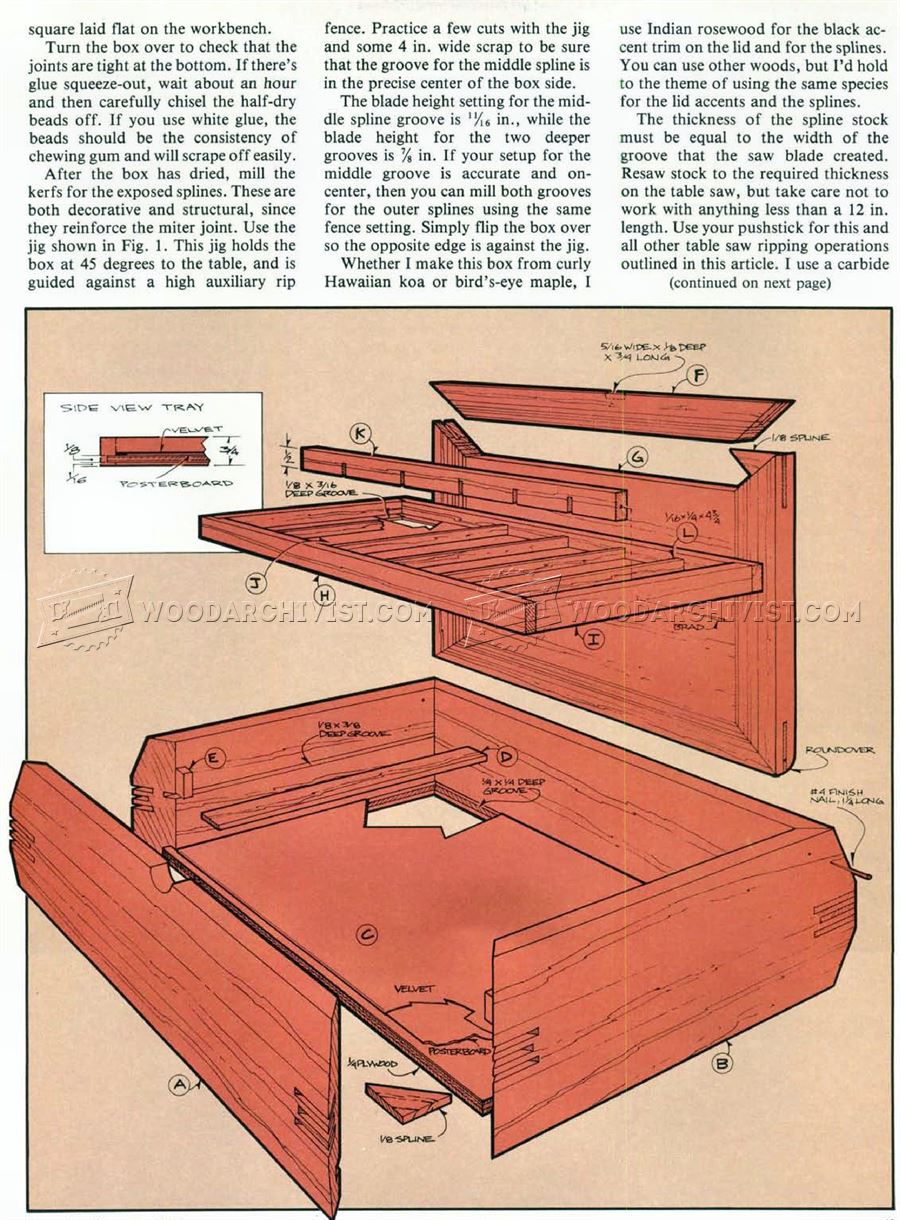 Jewelry Box Plans • WoodArchivist