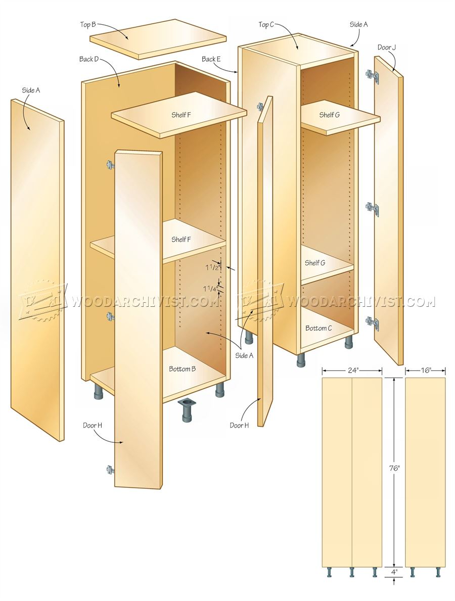 Tall Storage Cabinet Plans ... - Tall Storage Cabinet Plans €� WoodArchivist