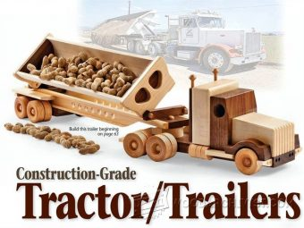 1791-Wooden Truck and Trailer Plan
