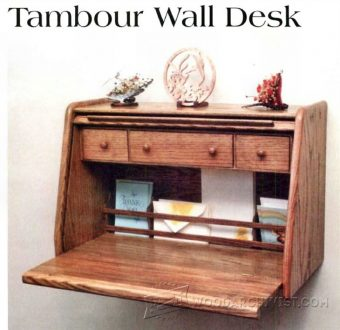 1792-Tambour Wall Desk Plans