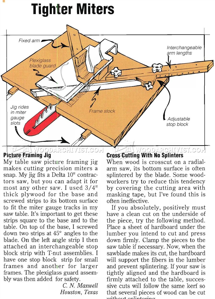Picture Frame Miter Jig