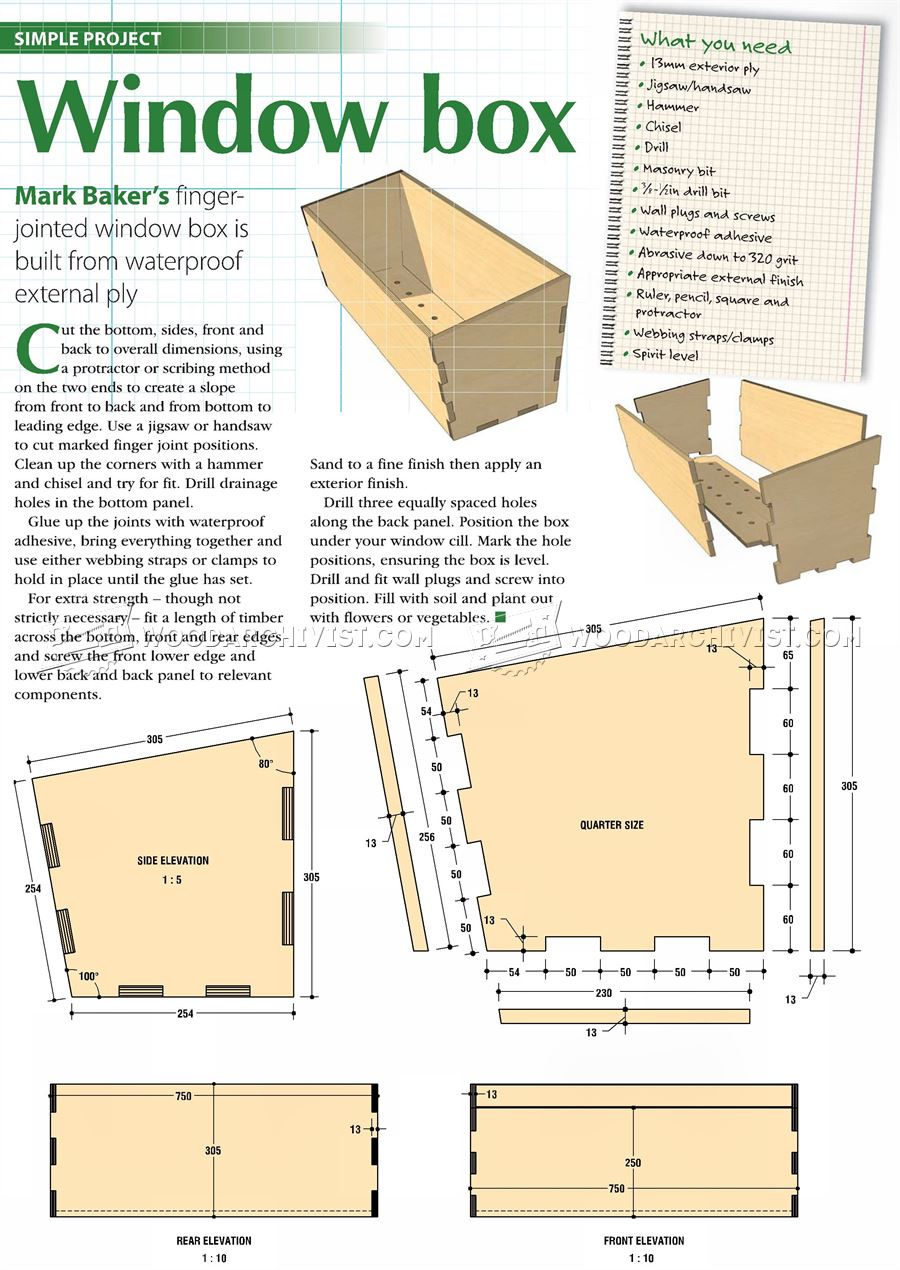 woodworking plans toy box | Friendly Woodworking Projects