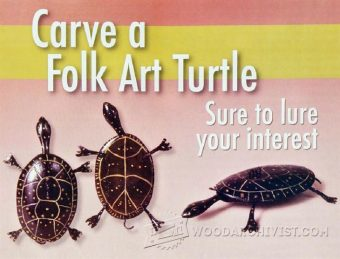 1818-Turtle Carving – Wood Carving Patterns