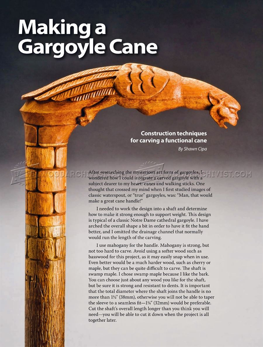 Carving Cane - Wood Carving Patterns