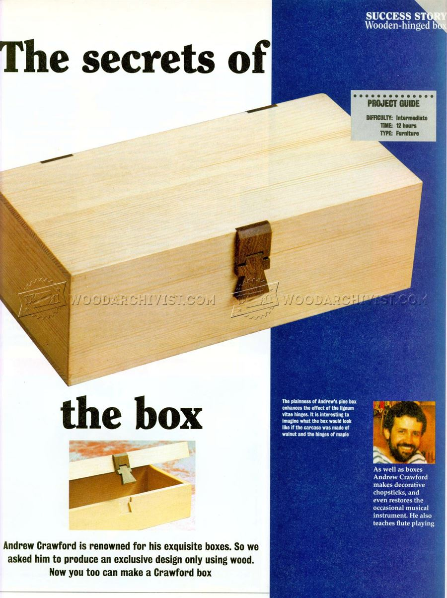 Wooden Hinged Box Plans