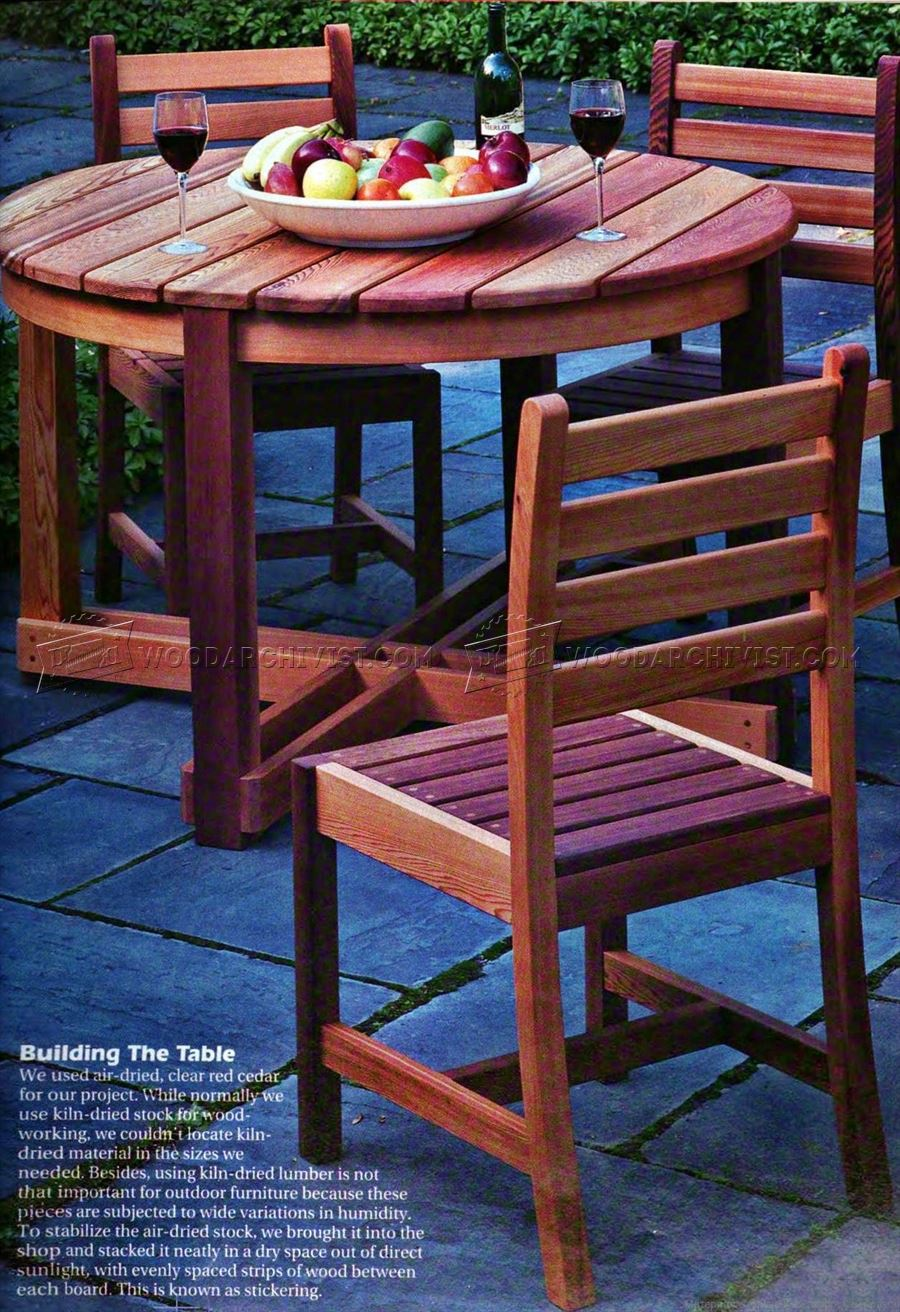 Backyard Table Plans : 1828 Outdoor Table and Chair Plans  Outdoor Furniture Plans
