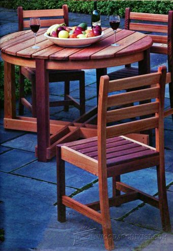 1828-Outdoor Table and Chair Plans