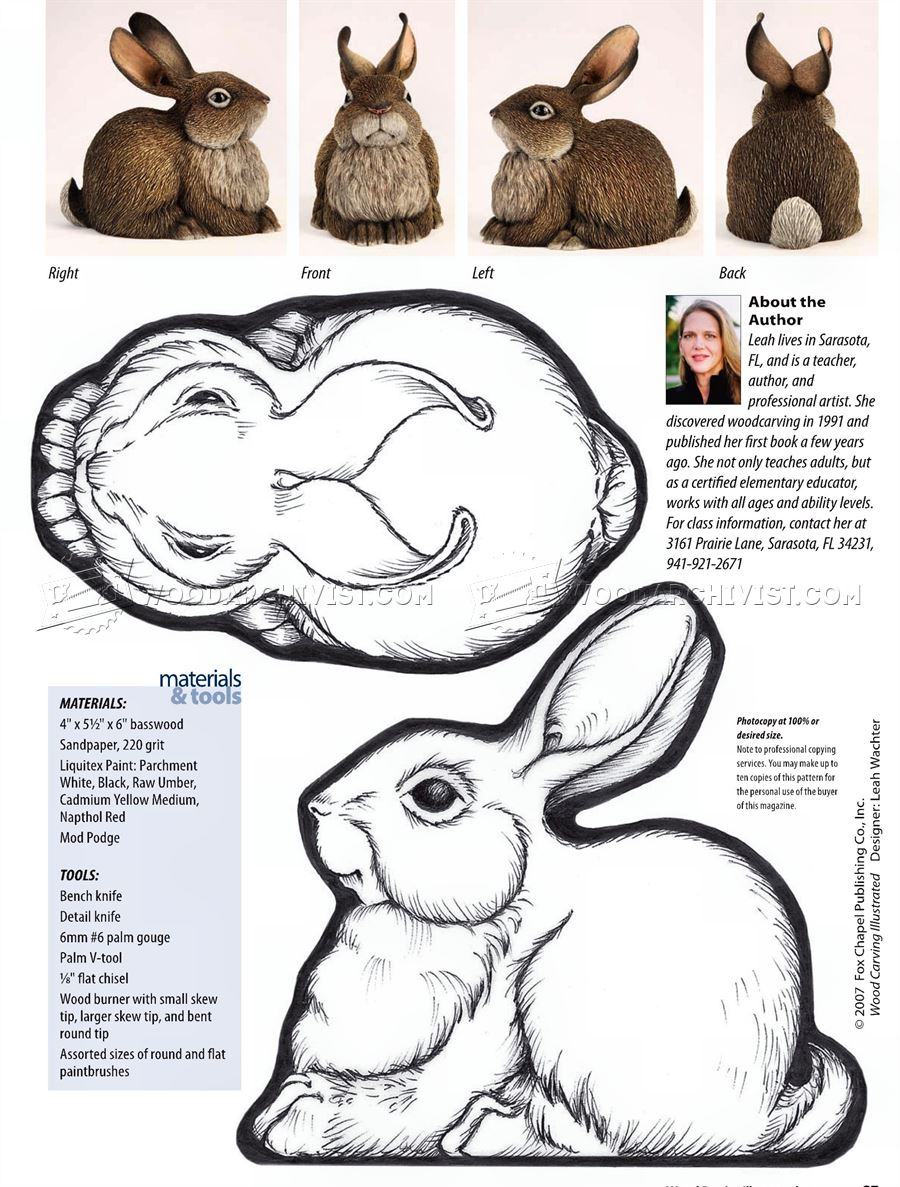 Carving Rabbit - Wood Carving Patterns