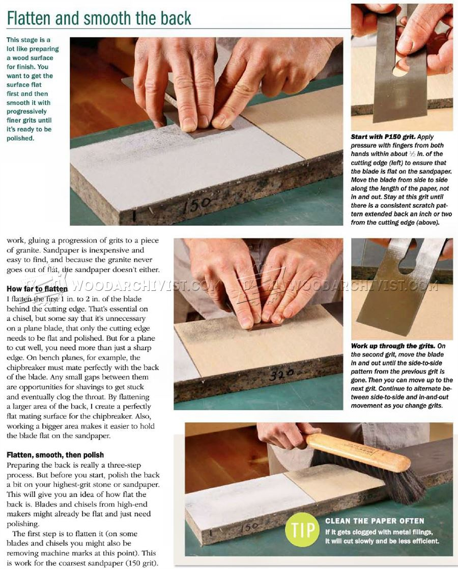#1836 Polishing Plane Blades and Chisels