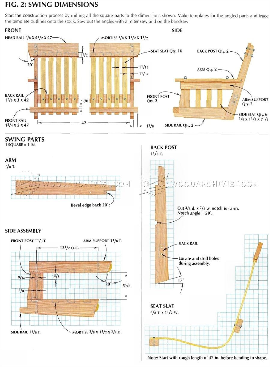 Diy porch swing woodarchivist for Outdoor swing plans