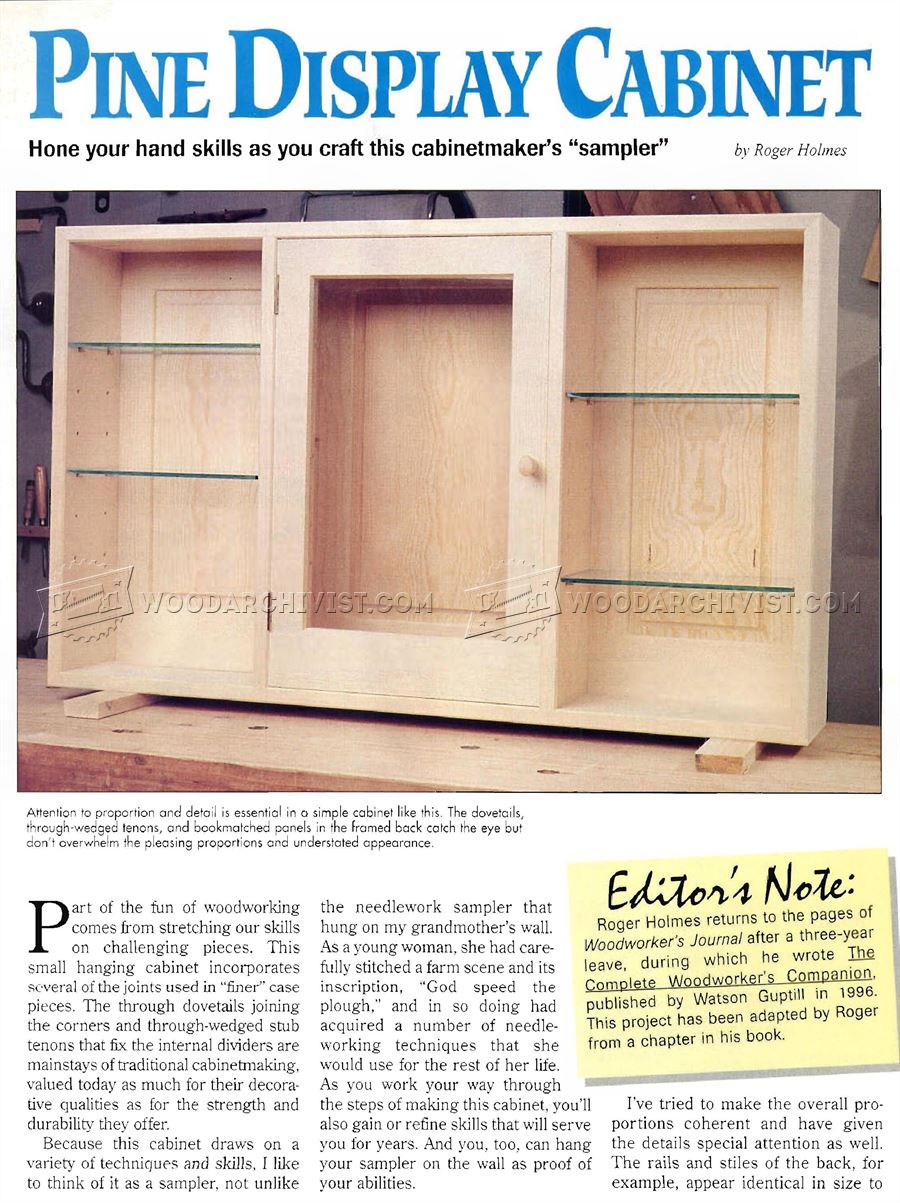 Wall Display Cabinet Plans  sc 1 st  WoodArchivist & Wall Display Cabinet Plans u2022 WoodArchivist