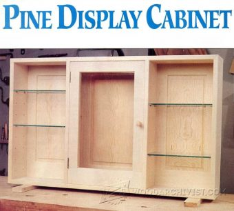 1844-Wall Display Cabinet Plans