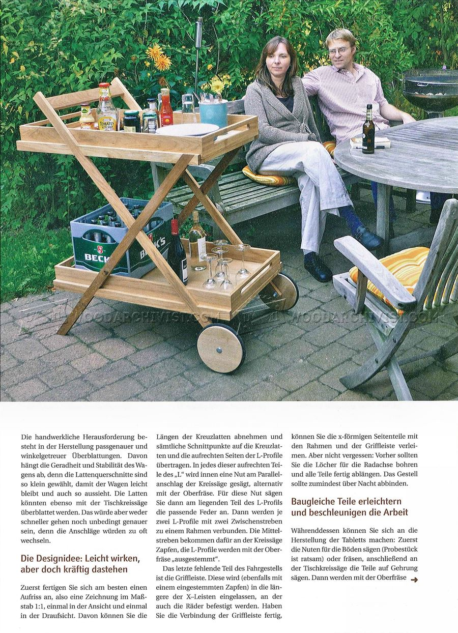 Outdoor Serving Cart Plans