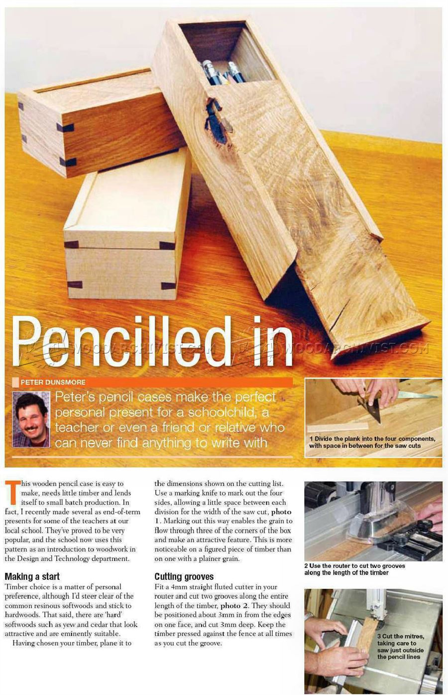 Wooden Pencil Case Plans