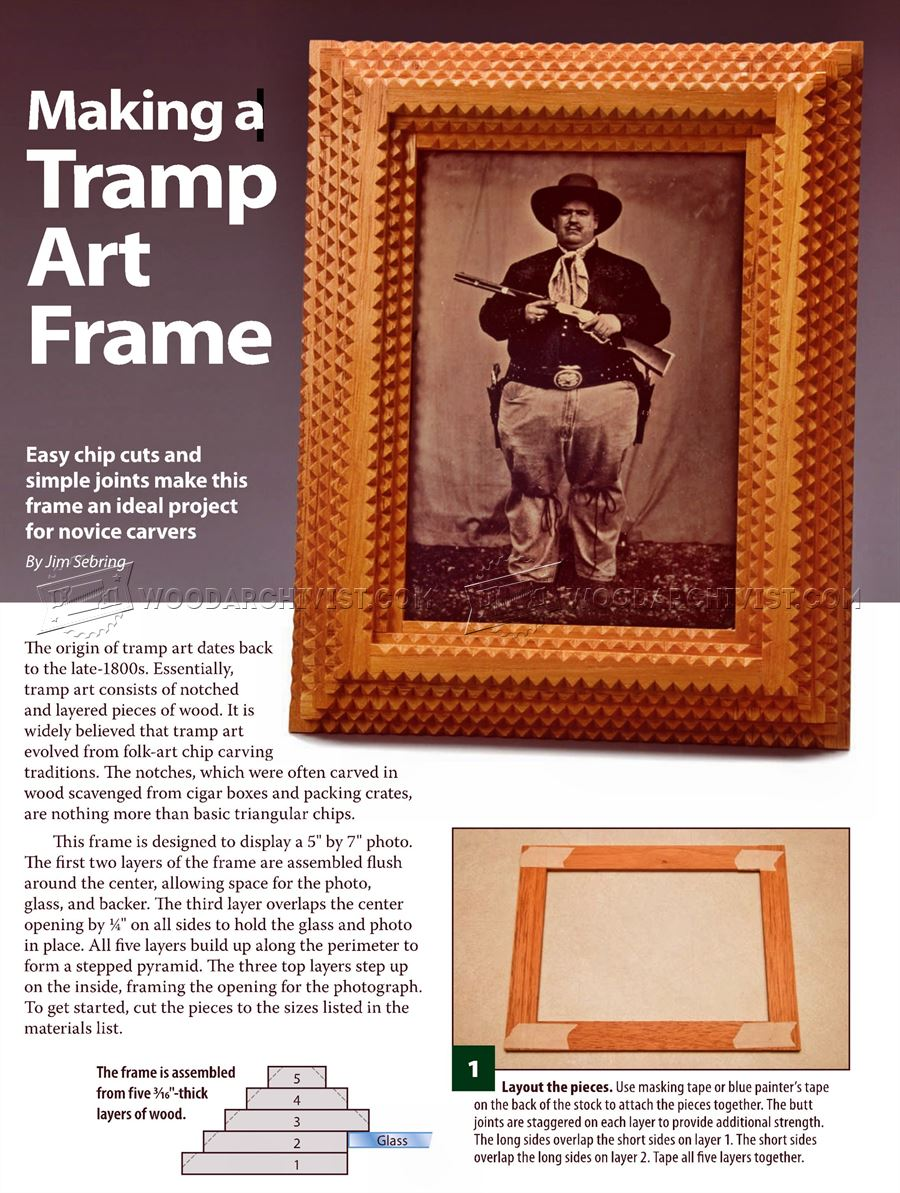 Making Tramp Art Picture Frames • WoodArchivist
