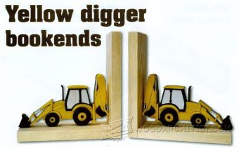 1859-Yellow Digger Bookends Plans