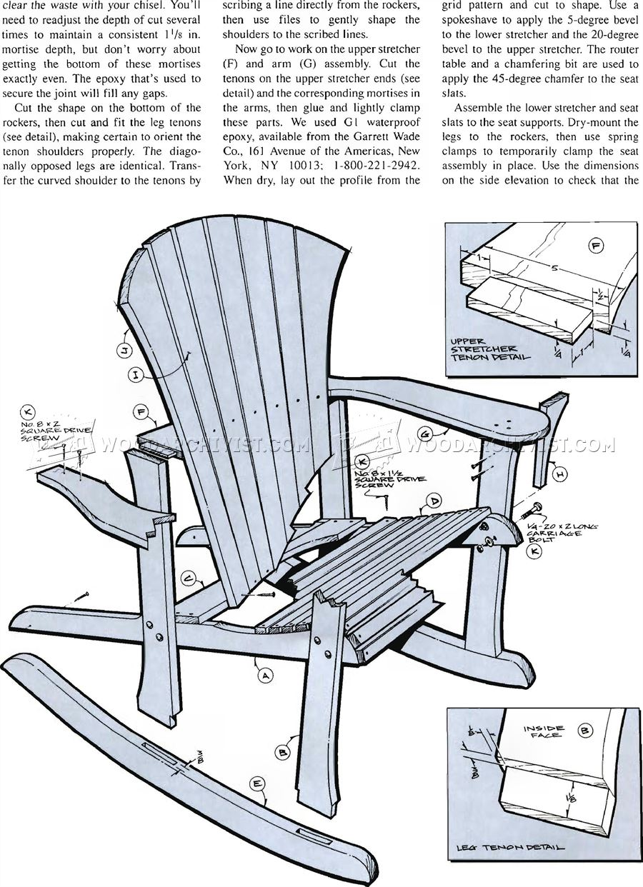 adirondack rocking chair plans woodarchivist. Black Bedroom Furniture Sets. Home Design Ideas
