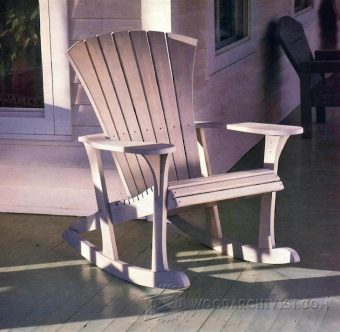 1860-Adirondack Rocking Chair Plans