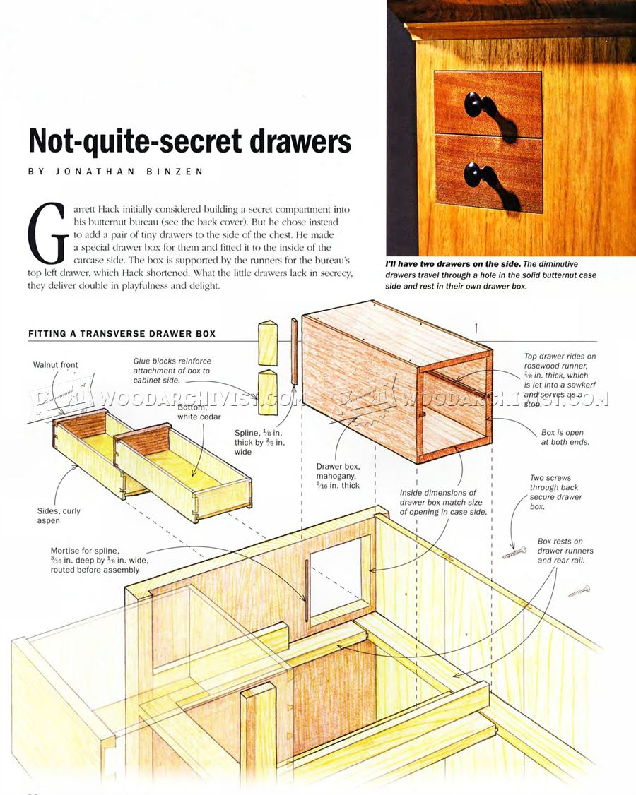 secret drawer hidden compartment furniture