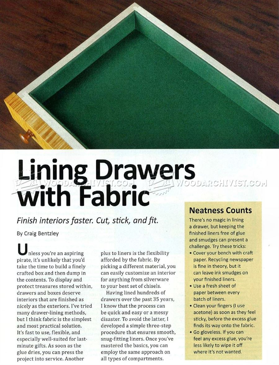 Lining Drawers with Fabric