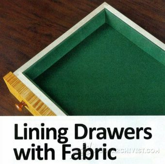 1864-Lining Drawers with Fabric