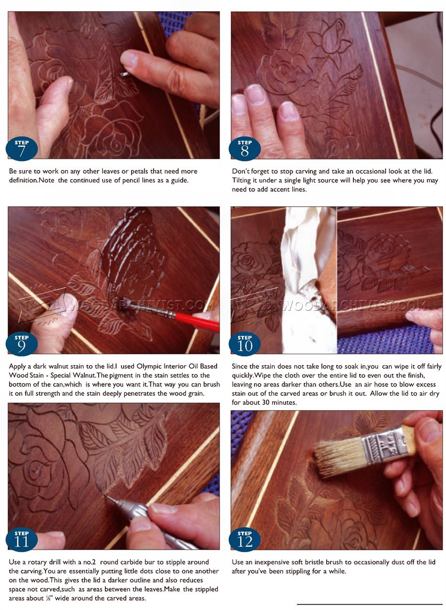 Carved Jewelry Box Lid