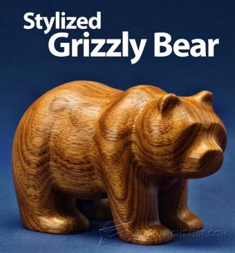 1879-Carving Bear - Wood Carving Patterns