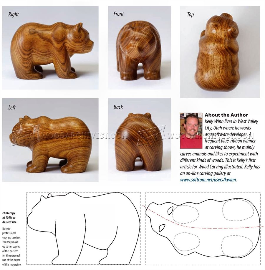 Carving Bear - Wood Carving Patterns
