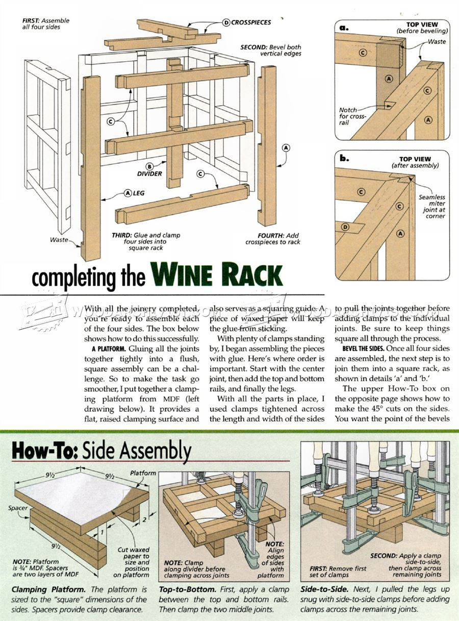 Wine Rack Plan Woodarchivist