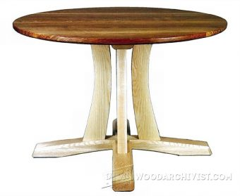 1897-Round Pedestal Table Plans