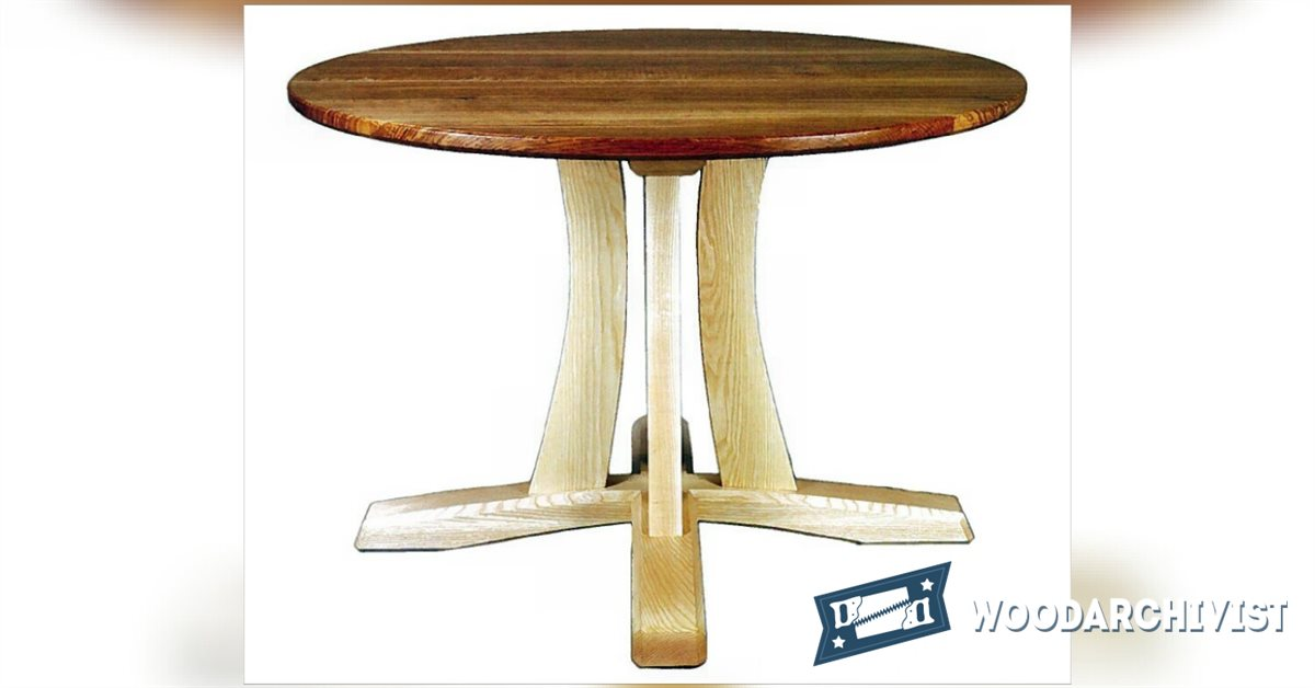 Round Pedestal Table Plans WoodArchivist : 1897 Round Pedestal Table Plans f from woodarchivist.com size 1200 x 628 jpeg 58kB