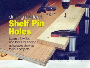 1899-Drilling Shelf Pin Holes