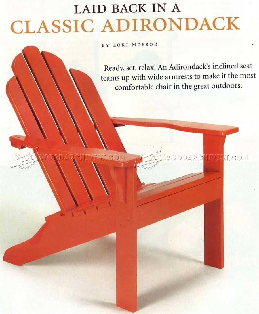 Classic Adirondack Chair Plans ...  sc 1 st  WoodArchivist : adirondock chairs - Cheerinfomania.Com