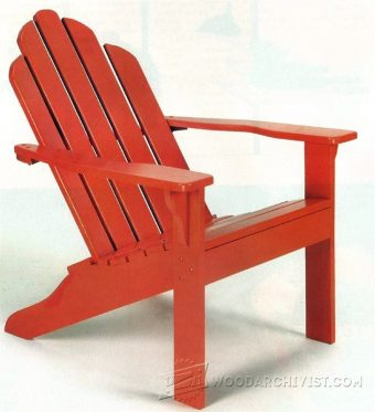 1900-Classic Adirondack Chair Plans
