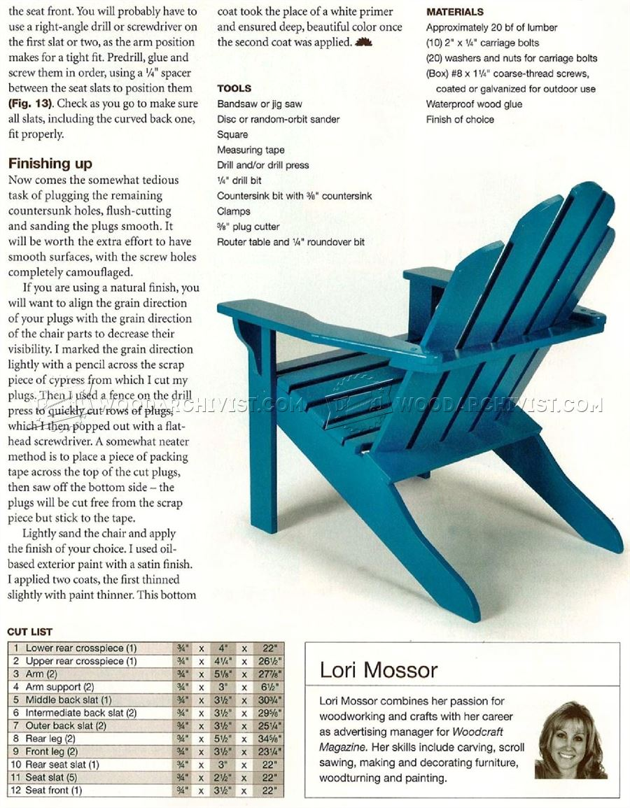 Free Plans for Wooden Outdoor Furniture