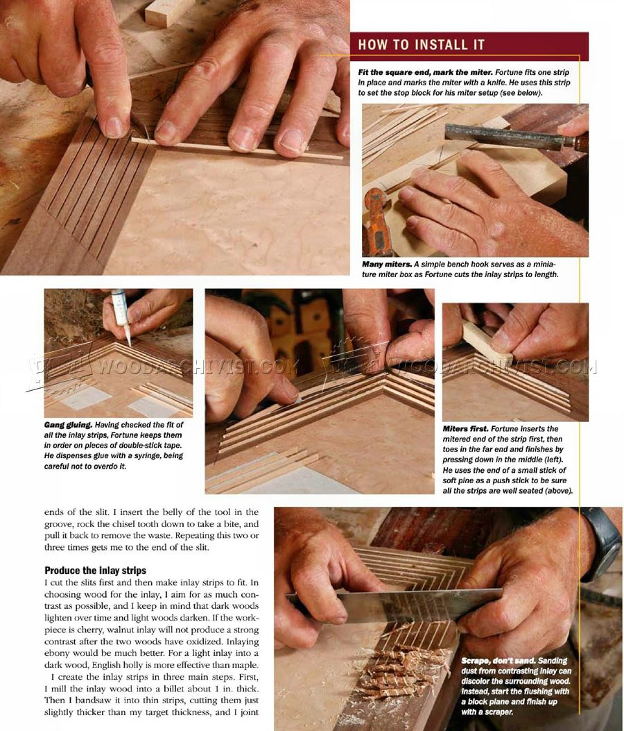 String Inlay Techniques