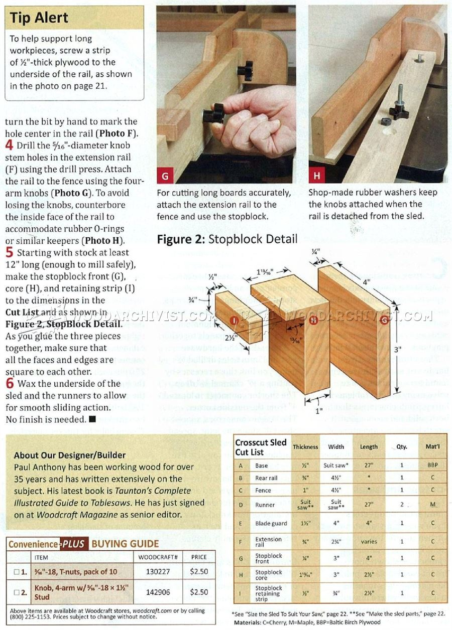 Table Saw Crosscut Sled Plans