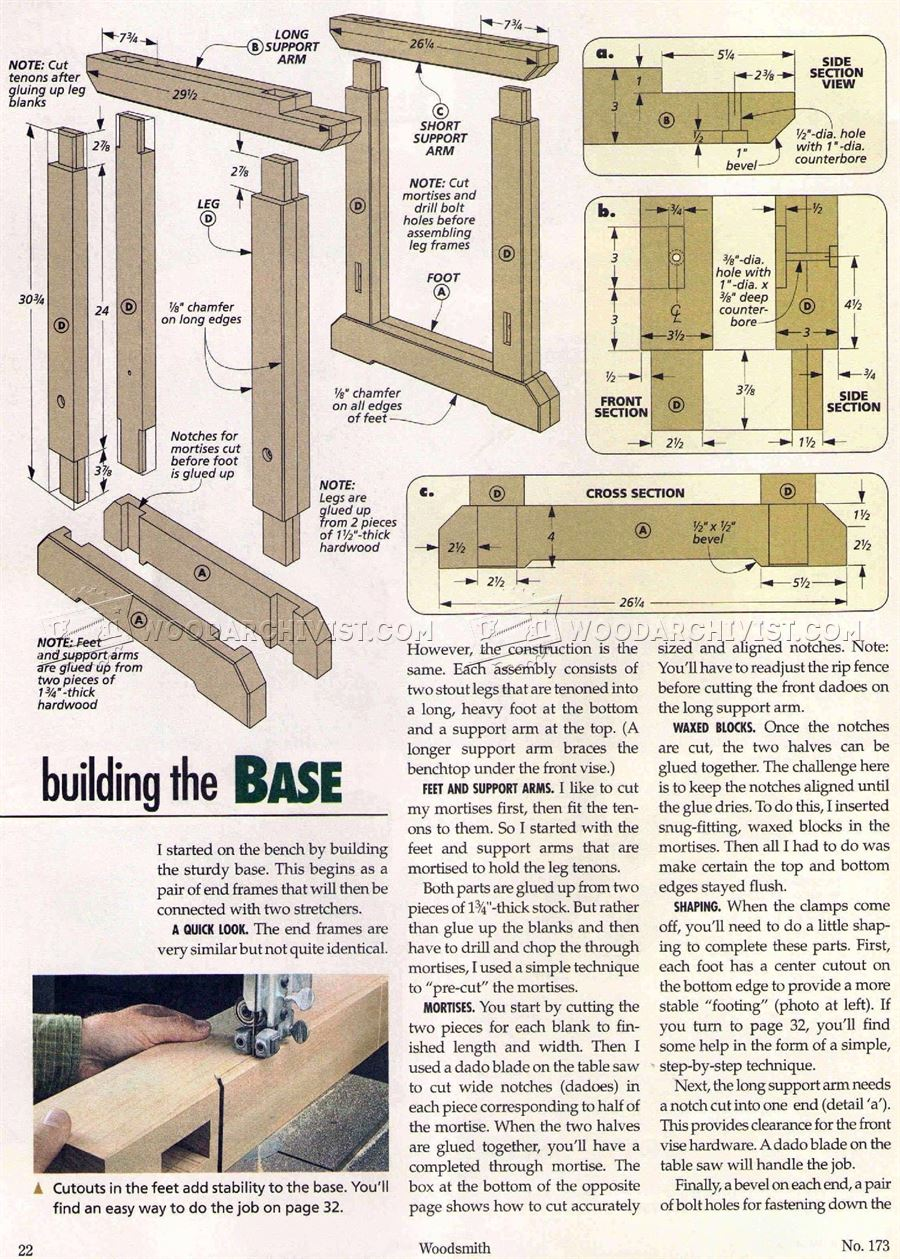 #1913 Traditional Workbench Plans