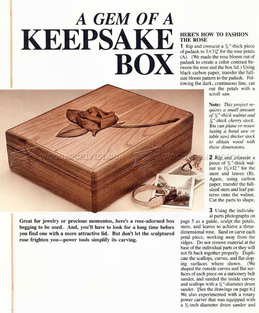 1914 Keepsake Box Plans - Woodworking Plans