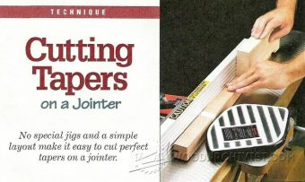 1923-Cutting Tapers on Jointer